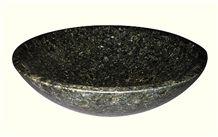 Verde Ubatuba Granite Sinks, Green Granite Bowl Water Basin