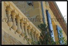 Mateur Creme Limestone Balustrades
