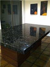 Volga Blue Kitchen Table, Countertop, Volga Blue Granite Countertop