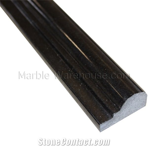 Absolute Black Granite Chair Rail From United States