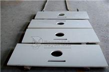 China White Quartz Vanitytop, Dylk-1008 White Quartz Bath Tops