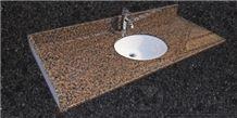 Distributor Granite Bathroom Vanity Tops, Tropical Brown Granite Bathroom Vanity Tops