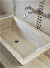 Travertino Classico Beige Travertine Wash Basin