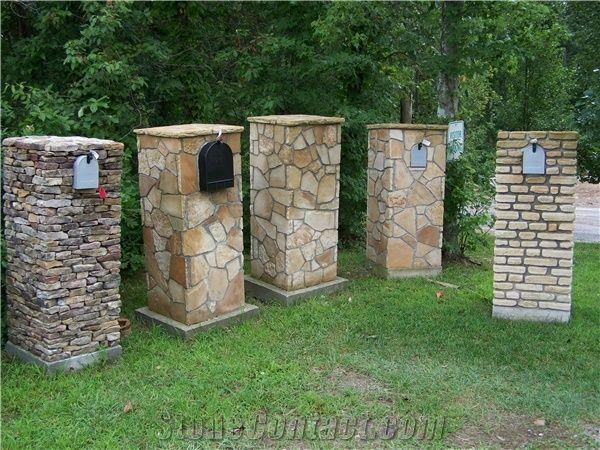 Ashlar Natural Stone Veneer Mailbox From United States