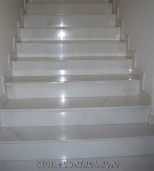 Bianco Sivec Marble Staircase Bianco Sivec White Marble