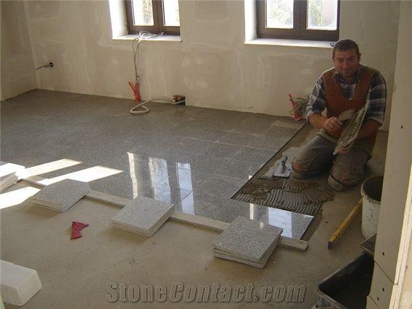 Bianco Cristal Granite Floor Installation From Croatia