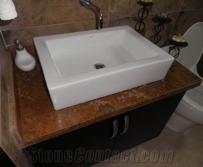 Travertino Villa De Leyva Travertine Bathroom Countertop