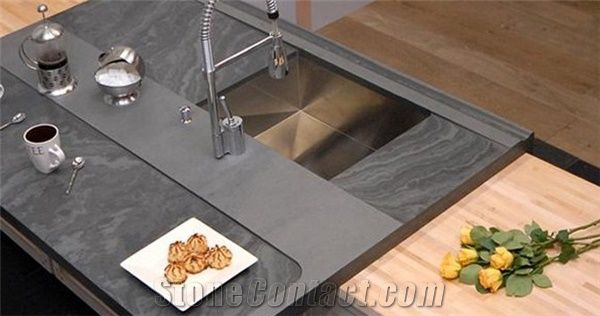 Brazil Grey Slate Kitchen Countertop Stonecontact Com