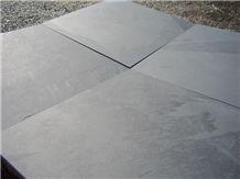 Brazilian Black Slate Slabs & Tiles, Mustang Slate