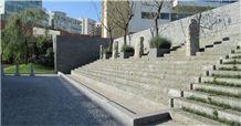 Miracema Cinza Gneiss Steps, Grey Gneiss Steps
