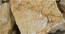 Miracema Gneiss Natural Wall Tiles, Brazil Yellow Gneiss