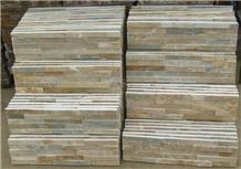 P014 Yellow Flat Culture Slate, Ledge Stone,