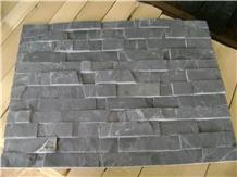P018 Black Flat Culture Slate, Ledge Stone