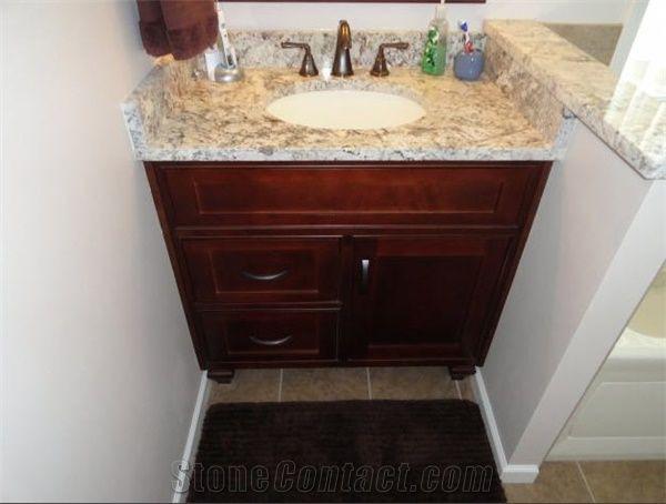 Alaska White Granite Bathroom Top Vanity Top From United