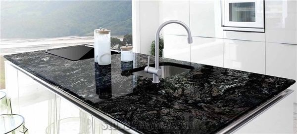 Black Forest Gold Granite Kitchen Countertop From Ecuador 242257