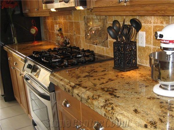 Juparana Lapidus Granite Kitchen Countertop From United