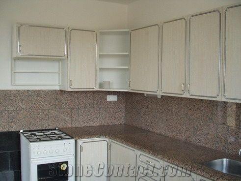 Rosa Porino Gl Granite Kitchen Countertop Tops