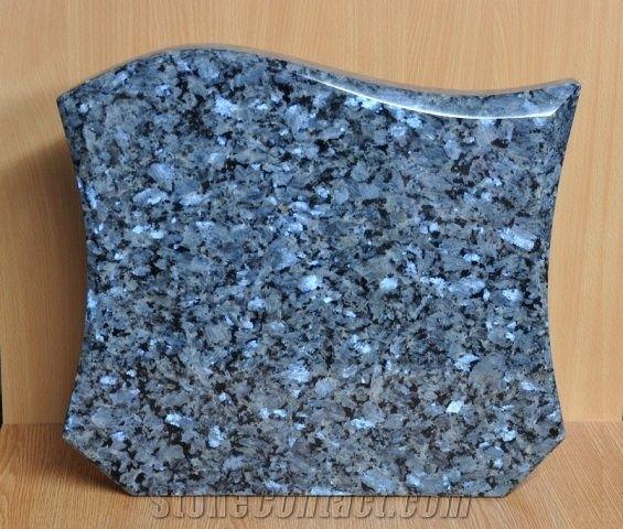 Blue Pearl Granite Gravestone From Czech Republic 242791