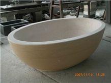 Galala Beige Marble Bathtub