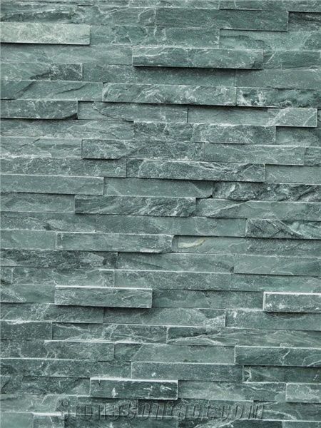 Green Rustic Decorative Stone Wall Tiles Green Slate