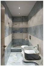 Vermion Green Marble and Kavala White Marble Bathroom Design