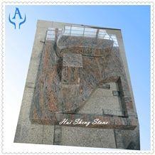 Kanakpura Multicolour Granite Tombstone,Monument