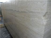Roman Silver Light Travertine Block, Italy Beige Travertine