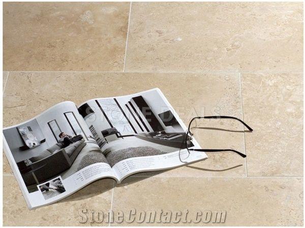 Ivory Travertine Honed Filled Tiles Turkey Beige Travertine From