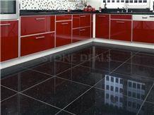 Savana Black Quartz Stone - Polished Floor Tiles