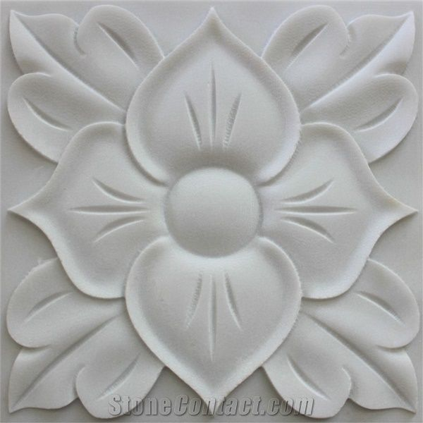 3d White Stone Textures Cladding Art Panels White Marble