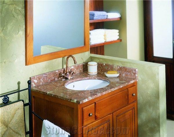 Rosso Medina Marble Vanity Unit Bath
