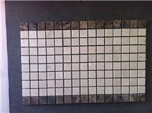 Beige Marble+ Emperador Marble Mosaic 9