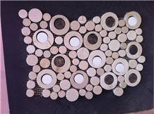 Beige Marble Polished Mosaic,Wall Mosaic Pattern
