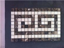 Emperador Marble+Beige Marble Mosaic Medallion 8