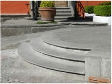 Santo Tomas Gris Marble Steps, Grey Marble Deck Stairs