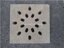 Grille Siphon Antique Travertine Water Drainage