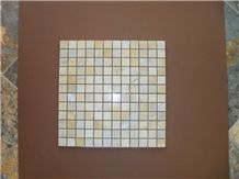 Vietnam Wooden Yellow Marble Mosaic Tiles