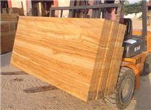 Teak Wood Sandstone Slabs & Tiles, yellow sandstone floor covering tiles, walling tiles