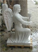 White Marble Carving,western Human Sculpture