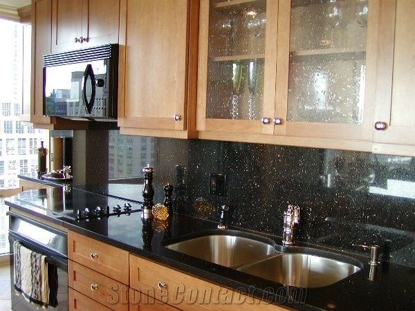 Black Galaxy Granite Kitchen Countertops Kitchen Countertop Design