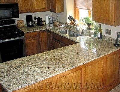 New Venetian Gold Granite Countertops Yellow Kitchen Countertop Custom