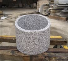 Snow Grey Granite Sink, Custom G623 Granite Basins