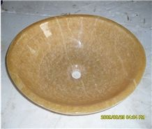 Yellow Onyx Bathroom Sink Made in China