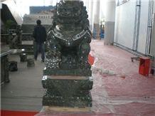 Green Granite Carving