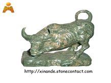 Green Jadeite Granite Animal Sculpture
