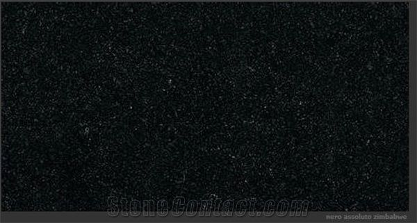 Nero Assoluto Zimbabwe , Nero Assoluto Zimbabwe Granite Slabs From Italy Stonecontact