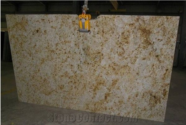 Colonial Cream Granite Slab India Yellow Granite From