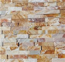 Yellow Gneiss 5/L Ledge Stone, Feature Wall
