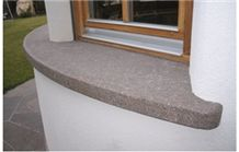Flamed and Polished Porphyr Window Sills, Porfido Viola Lilac Granite