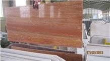 Red Travertine Iran Tiles & Slabs, polished travertine floor covering tiles, walling tiles